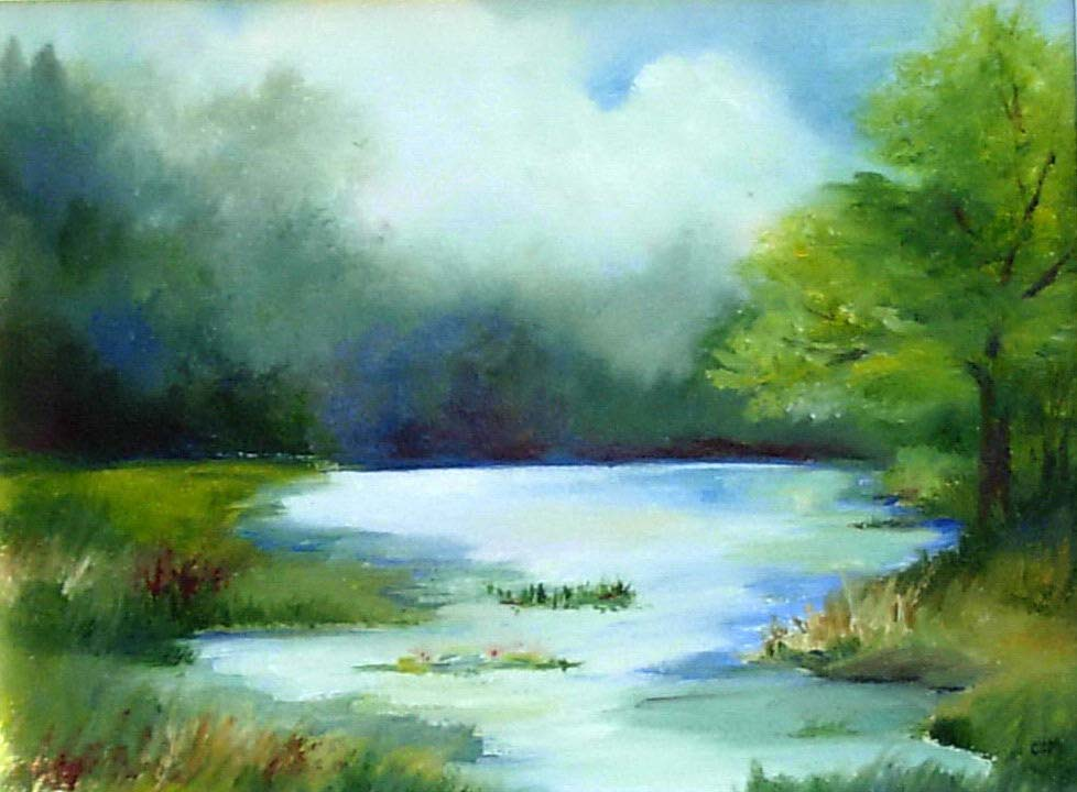 Nature Art Painting Easy