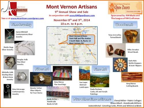 MV Artisans Announcement and Map - 2014 rev 1